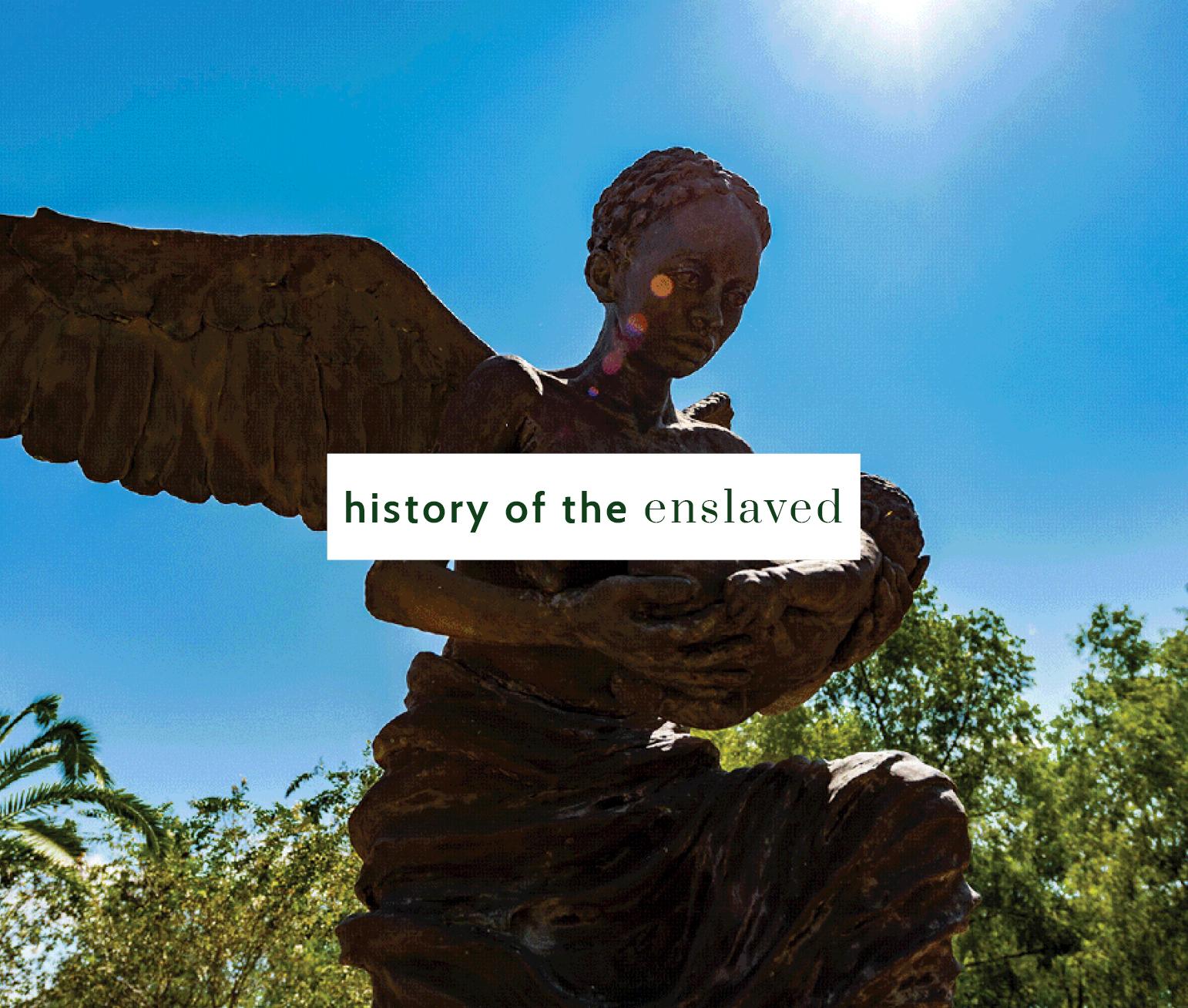 Angel statue at Whitney Plantation